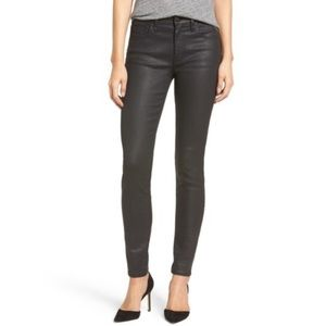 Madewell High Riser Skinny Jeans In Coated Edition